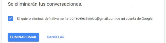 borrar cuenta gmail