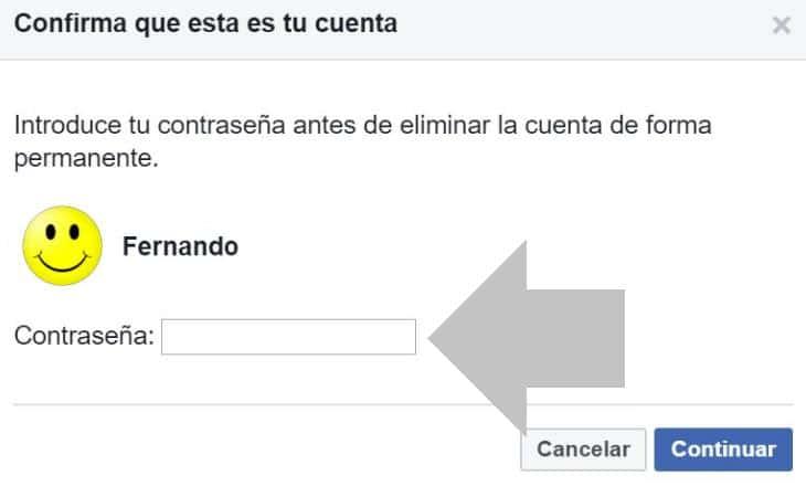 como eliminar definitivamente mi cuenta de facebook