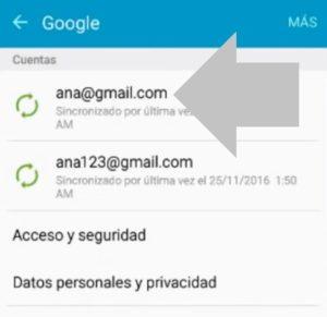 como eliminar cuenta google de un dispositivo