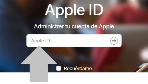 Inicia sesion con tu ID de Apple