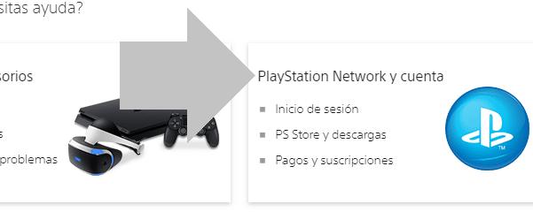 Selecciona PlayStation Network y cuenta