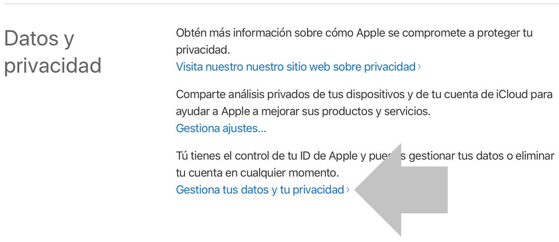 accede a datos y privacidad de icloud
