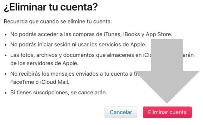 eliminar cuenta icloud en macbook