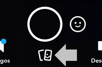 presiona para cambiar la pantalla en snapchat