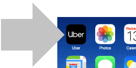 abre la app de uber