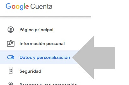 abre la opcion de datos personalizados