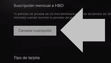 cancelar suscripcion hbo
