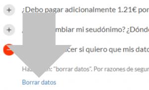 haz clic en borrar datos