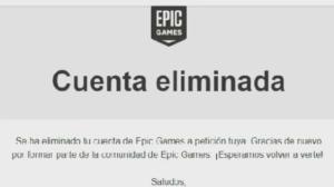 borrar cuenta epic games
