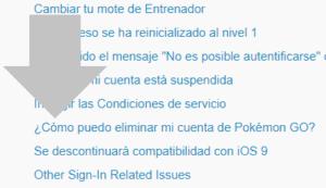 como puedo eliminar mi cuenta de pokemon go