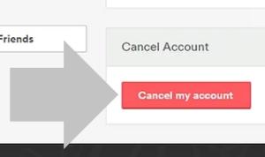 haz clic en cancelar mi cuenta para darte de baja de airbnb