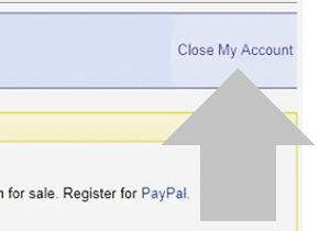 haz clic en cerrar mi cuenta de ebay