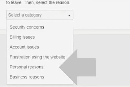 indica la razon por la que quieres eliminar tu cuenta