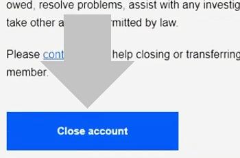 pulsa en borrar cuenta de ebay