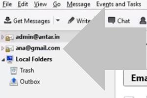 clic derecho en tu direccion de correo electronico